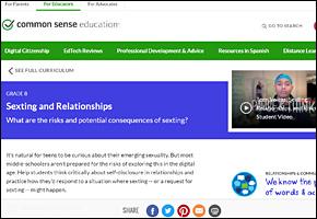 SSI Sexting Website Image Common Sense Media Sexting Relationships