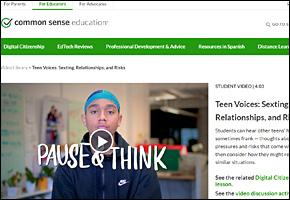 SSI Sexting Website Image Common Sense Media Teen Voices