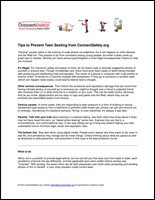 SSI Sexting Website Image ConnectSafely Handout
