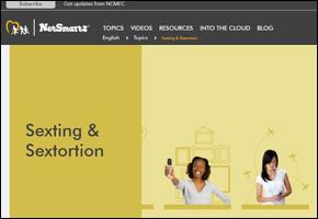 SSI Sexting Website Image NetSmartz Website