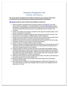 EMG Emergency Management Plan FAQ