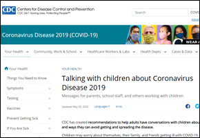 RES Pandemic COVID Website Image CDC Talking with Children