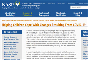 RES Pandemic COVID Website Image NASP Helping Children Cope