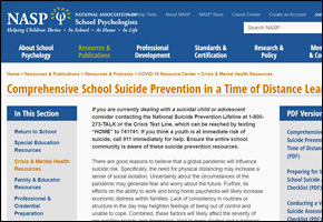 RES Pandemic COVID Website Image NASP School Suicide Prevention