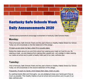 SSW KCSS Website 2020 Icon Daily Announcements