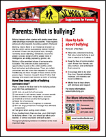 SSI Bullying Website Image KCSS Parents handout