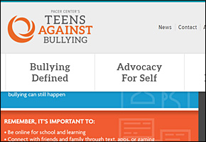 SSI Bullying Website Image Pacers Teens Against Bullying
