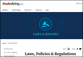 SSI Bullying Website Image StopBullyinggov Law