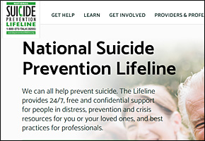SSI Bullying Website Image Suicide Prevention Lifeline