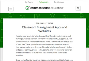 SSI Classroom Management Website Image Common Sense Education Apps Websites