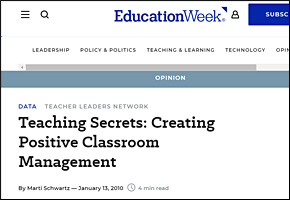 SSI Classroom Management Website Image Education Week
