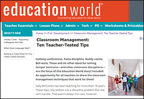 SSI Classroom Management Website Image Education World Teacher Tips