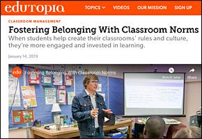 SSI Classroom Management Website Image Edutopia Classroom Norms