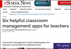 SSI Classroom Management Website Image eSchool News Six Apps