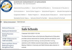 SSI Drug Abuse Website Image KDE Safe Drug Free Schools