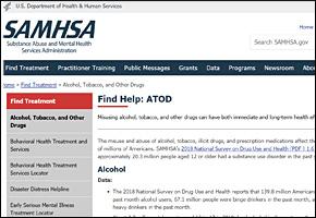 SSI Drug Abuse Website Image SAMHSA ATOD