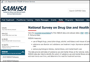 SSI Drug Abuse Website Image SAMHSA Surveys