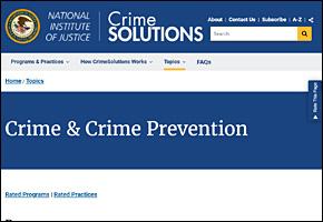 SSI Gangs Website Image NIJ Crime Solutions