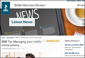 SSI Internet Safety Website Image BBB