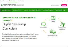 SSI Internet Safety Website Image Common Sense Media Digital Citizenship