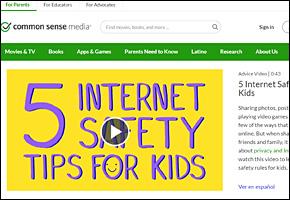 SSI Internet Safety Website Image Common Sense Media Safety Tips