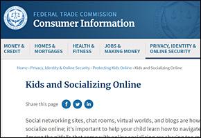 SSI Internet Safety Website Image FTC Socializing Online