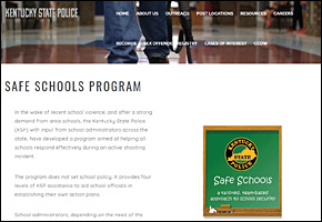 SSI School Violence Website Image KSP Safe Schools Program