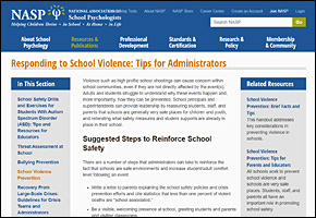 SSI School Violence Website Image NASP Responding to School Violence