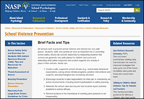 SSI School Violence Website Image NASP School Violence Prevention
