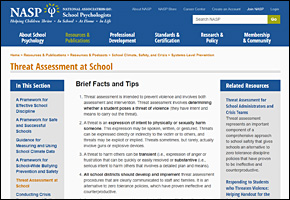 SSI School Violence Website Image NASP Threat Assessment