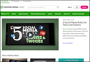 SSI Social Networking Website Image Common Sense Media Social Media