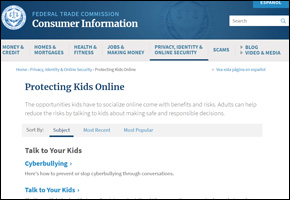 SSI Social Networking Website Image FTC Protecting Kids Online
