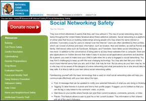SSI Social Networking Website Image NCPC Social Networking