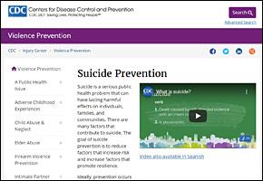 SSI Suicide Website Image CDC Suicide Prevention
