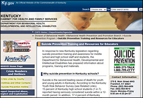 SSI Suicide Website Image KYCHFS Suicide Prevention Training