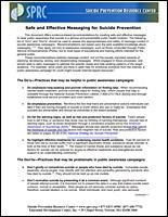 SSI Suicide Website Image SPRC Safe Messaging