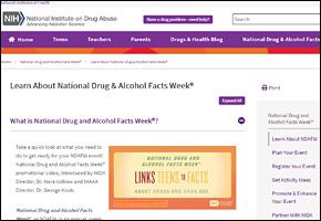 SSI Drug Abuse Website Image NIH Drug Facts Week