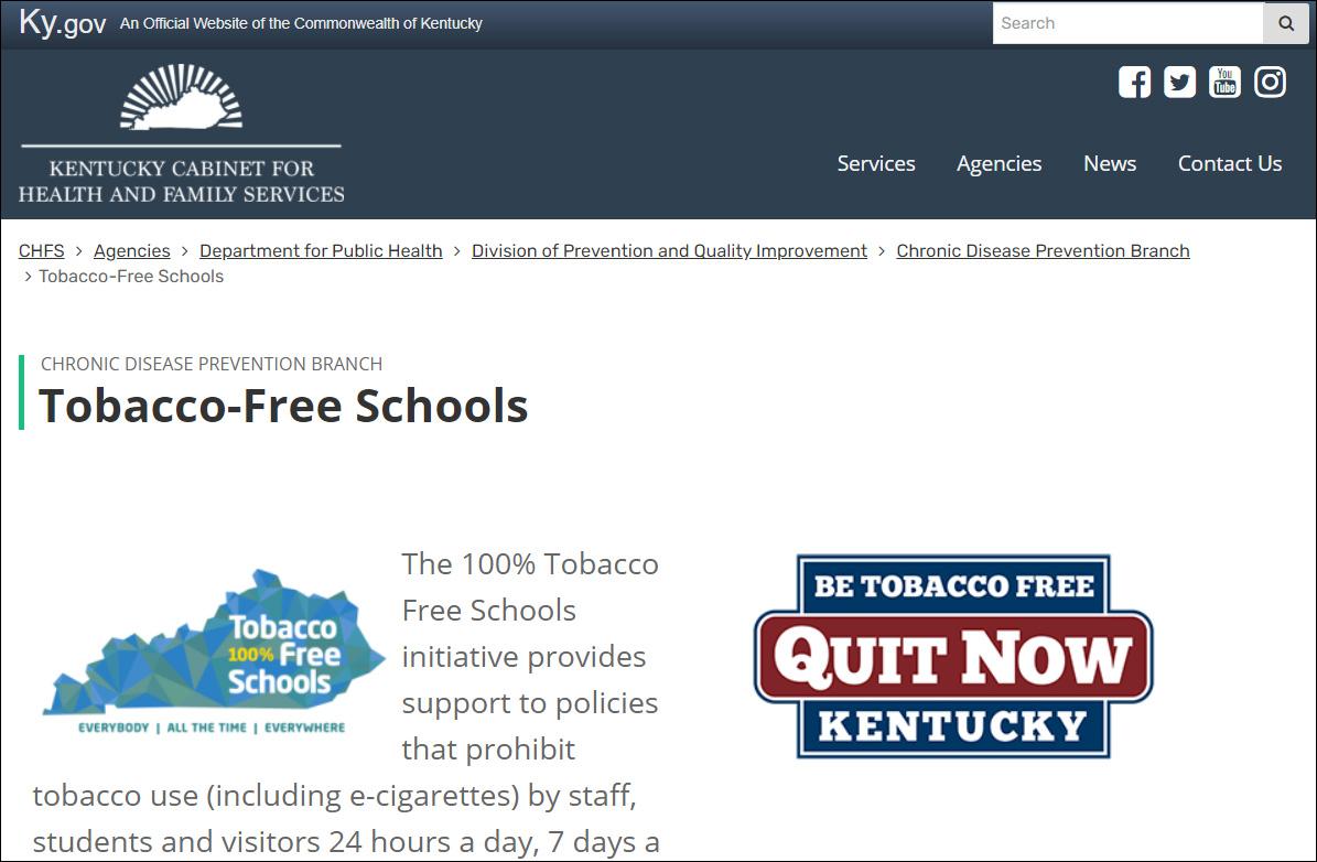 Tobacco Free Schools Website