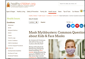 SSW KY Safe Schools Week 2021 resource image Healthy Children Mask Mythbusters