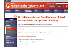 SSW KY Safe Schools Week 2021 resource image Pacer Lesson Plan Elementary