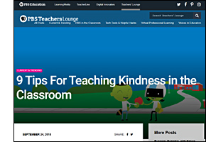 SSW KY Safe Schools Week 2021 resource image PBS 9 Tips for Teaching Kindness