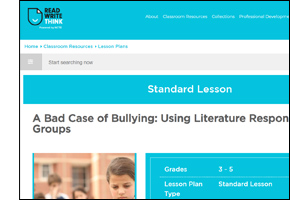 SSW KY Safe Schools Week 2021 resource image Read-Write-Think Bad Case Bullying