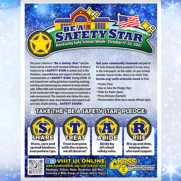 KY Safe Schools Week 2021 posters-poster